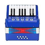 Topnaca Kinder Akkordeon, Spielzeug Akkordeon, Mini Akkordeon,17 Tasten 8 Bass, Solo und...