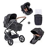 Hauck Pacific 3 Shop N Drive Kombikinderwagen 6 teilig bis 18 kg + Babyschale + Babywanne...