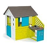 Smoby 810711 – Pretty Haus - Spielhaus für Kinder für drinnen und draußen, mit Küche...