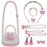 DECARETA Schmuckset Mädchen Kinder Handtasche mit Halskette Kinderschmuck Kleine...