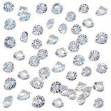HAKACC 500 Stück Glas Deko Diamanten, 10mm Brillanten Glasdiamanten Klare...