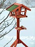 BUSDUGA - Vogelhaus/Futterhaus aus Holz mit Futtersilo 121 x 45 x 30cm, sehr Leichter...