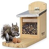 WILDLIFE FRIEND I Eichhörnchen Futterhaus Maxi extra groß und stabil aus Massivholz mit...