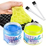 BESTZY Keyboard Cleaner Universal Cleaning Gel - 2 Cans and 2 Brushes Super Clean Quickly...