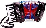 New Classic Toys - 10057 - Musikinstrument - Großes Akkordeon mit Musikbuch - Schwarz/Rot