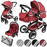 ib style® SOLE 3 in 1 Kombi Kinderwagen   inkl. Auto Babyschale   Zusammenklappbar  ...