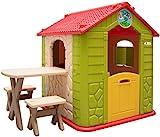 LittleTom Kinder Spielhaus ab 1 - Garten Kinderhaus mit Tisch - Indoor Kinderspielhaus -...
