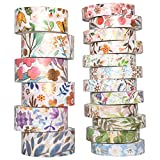 YUBBAEX Washi Tape Set VSCO Goldene Foliendruck Masking Tape Dekoratives Klebeband für...