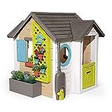 Smoby 810405 - Gartenhaus - Spielhaus für drinnen und draußen, mit kleiner Eingangstür...