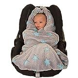 HOPPEDIZ Fleece-Decke für 3 & 5 Punkt-Gurtsysteme Einschlag-/Auto-/Krabbeldecke...