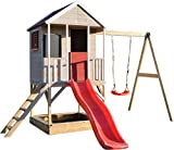Wendi Toys M9 Summer Adventure House & Plattform & Rutsche | Kinderspielhaus aus Holz auf...