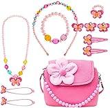 specool Kinderschmuck Mädchen Kinder Mädchen Handtasche mit Halskette Armband Ring und...