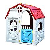 Kreher XL Faltbares Kinderspielhaus, Spielhaus, Gartenhaus aus robustem Kunststoff. Maße:...