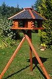stabiles Futterhaus/Vogelhaus, imprägniert, mit Strukturputzdach mit Ständer