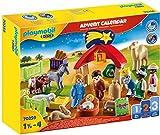 PLAYMOBIL Adventskalender 70259 Weihnachtskrippe mit liebevollen Figuren, Tieren und...