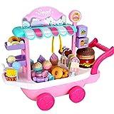 Sroomcla Kinder Eiswagen Spielzeug Pretend Play Set Kinder Spielhaus Spielzeug Baby...