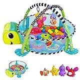 KINDEREO 3in1 Schildkröte Erlebnisdecke, Bällebad, Krabbeldecke, Spielbogen, Spieldecke,...