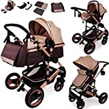 Daliya Bambimo 3 in 1 Kinderwagen - Kombikinderwagen Riesenset 14-Teilig incl. Babywanne &...