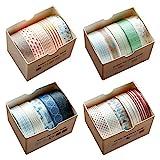 Pveath Washi Tape 20er Set, Dekoband Masking Tape Dekorative buntes Klebebänder für DIY...