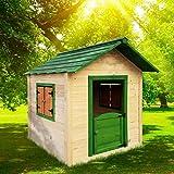 BRAST Spielhaus für Kinder 106 x111x132cm Tannenholz 12mm Kinderspielhaus Stelzenhaus...
