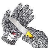 Alintor Schnitzhandschuh Kinder, Schnittfeste Handschuhe Kinder mit Stufe 5 Schutz,...