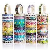 48 Rollen Washi-Tapes-Set – 8 mm breit, buntes Blumen-Design, dekoratives Klebeband für...