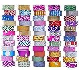 60 Rollen Glitter Washi Klebeband Set, Washi Masking Dekorative Bänder für DIY Dekor...
