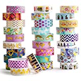 30 Rolls Washi Tape Set, Folie Gold Masking Tapes, 15 MM Breite DIY Papier...