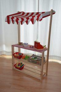 diy kaufmannsladen und marktstand f r kinder. Black Bedroom Furniture Sets. Home Design Ideas