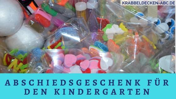 Tolles Abschiedsgeschenk für den Kindergarten oder die Krippe