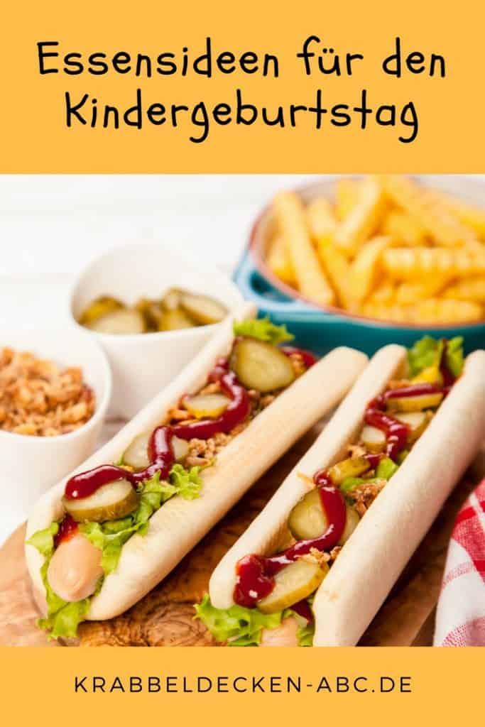 Essensideen für den Kindergeburtstag Hot Dog