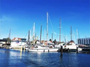 Yachthafen in Kiel Segeln mit Kindern