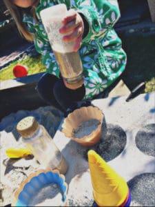 Streuselspender als Sanskastenspielzeug
