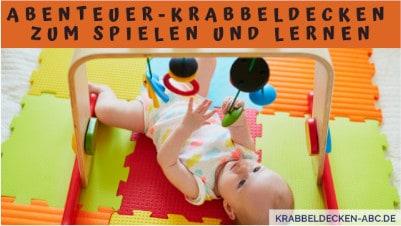 Abenteuer-Krabbeldecke zum Spielen und Lernen