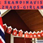 DIY: Skandinavische Holzkaus-Girlande – Deko für drinnen und draußen