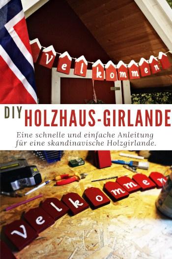 Holzhaus-Girlande aus Norwegen