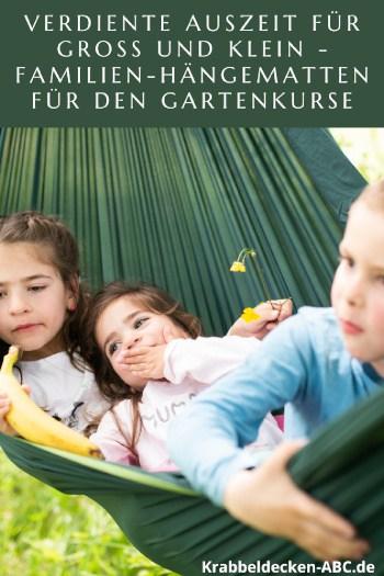 Verdiente Auszeit für Groß und Klein - Familien-Hängematten für den Garten Pinterest
