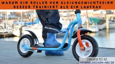 Warum ein Roller besser für den Gleichgewichtssinn ist als ein Laufrad